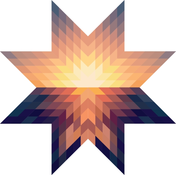 Quilt-Inspired Star Meant to Evoke a Sunset